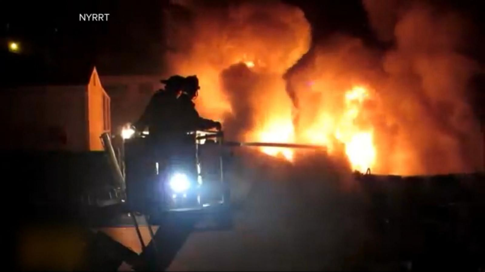 VIDEO: NYC's Bravest Sprang Into Action During a Massive Blaze That Took 5 Hours to Bring Under Control