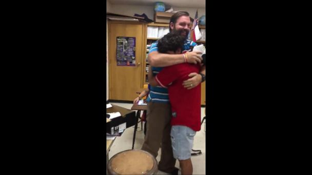 VIDEO: Foster Child Gives Back After Being Inspired by Teacher Who Helped Him and the Family Who Adopted Him