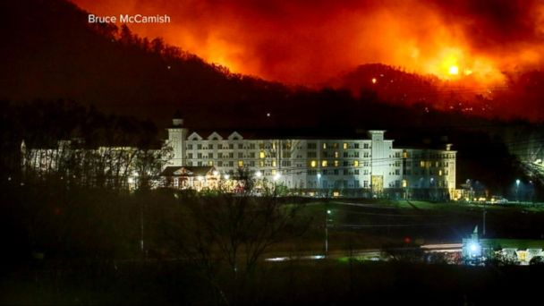 VIDEO: Smoky Mountain Wildfires Leave at Least 10 Dead and Others Missing
