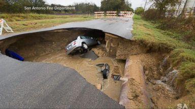 VIDEO: Index: Massive Sinkhole Swallows 2 Cars in San Antonio