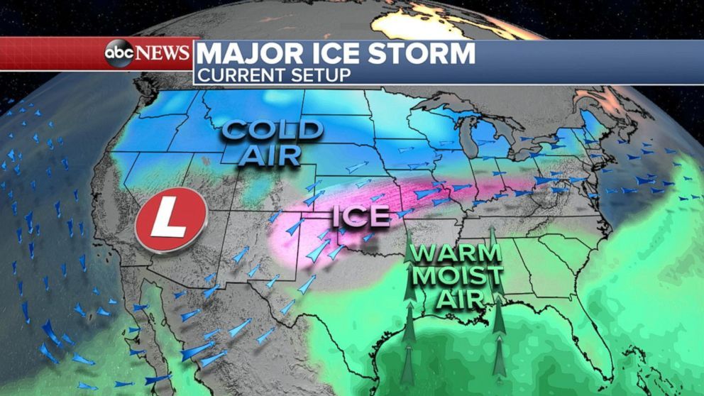 Major Ice Storm Across The Midwest Video ABC News - Us fronts map before ice storm