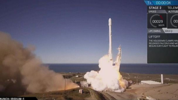 VIDEO: Space X Successfully Launches 10 Satellites Into Space