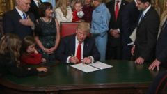 VIDEO: Trump Gets Down to Business Shortly After Swearing-In