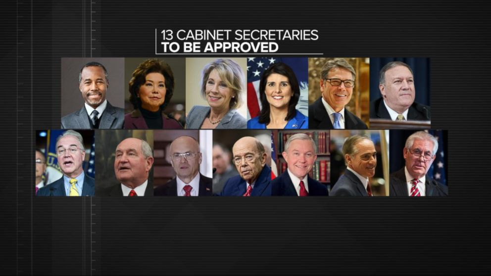 Trump Cabinet Nominees Waiting for Approval Video - ABC News