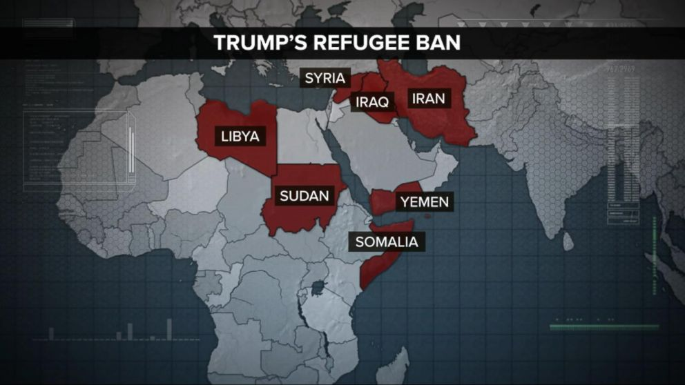 Trump Travel Ban Skips Countries That Have Produced Terrorists - Map of countries in us travel ban