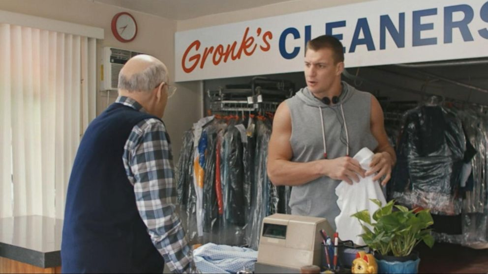 rob gronkowski to star in a tide super bowl commercial video abc news. Black Bedroom Furniture Sets. Home Design Ideas