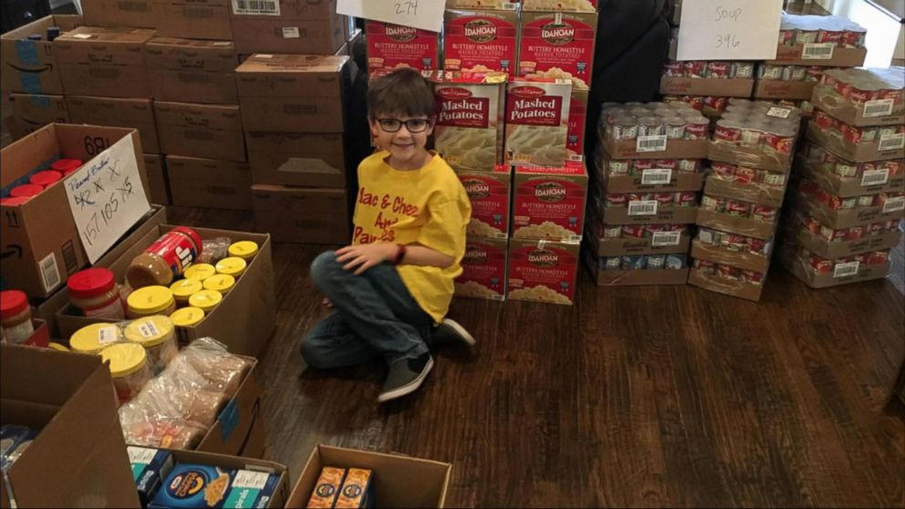 VIDEO: 7-year-old boy shares his favorite foods to help needy families