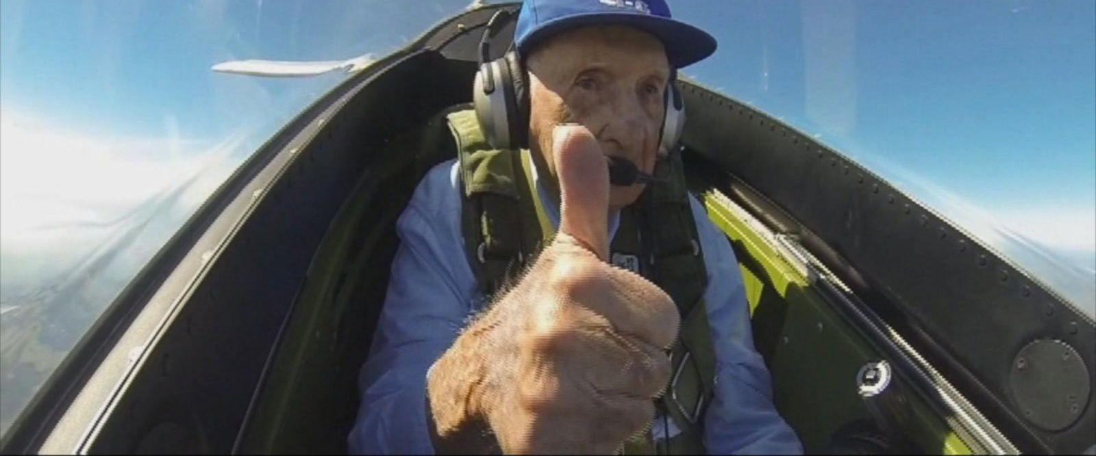 VIDEO: World War II pilot gets a chance to fly again