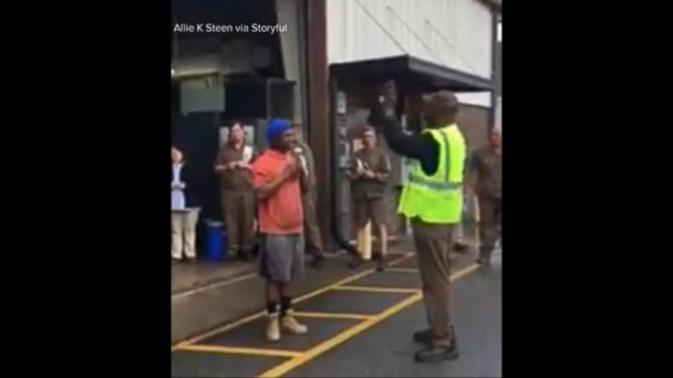 VIDEO: UPS employees deliver surprise package to co-worker