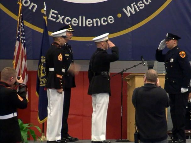 WATCH:  Veteran becomes 1st double amputee in the US to become police officer