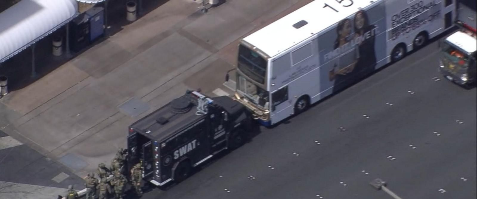 VIDEO: Tense moments in Las Vegas after an armed robbery at the Belagio hotel, and a deadly shooting on a bus