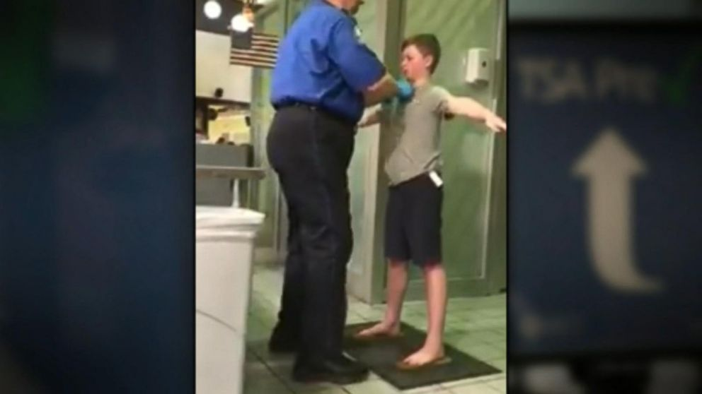 WATCH:  Outraged mother shows TSA pat-down of son