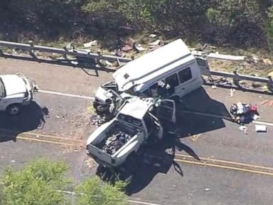 WATCH:  12 dead in Texas church bus crash