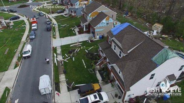 VIDEO: Drone video shows severe storm damage in Virginia