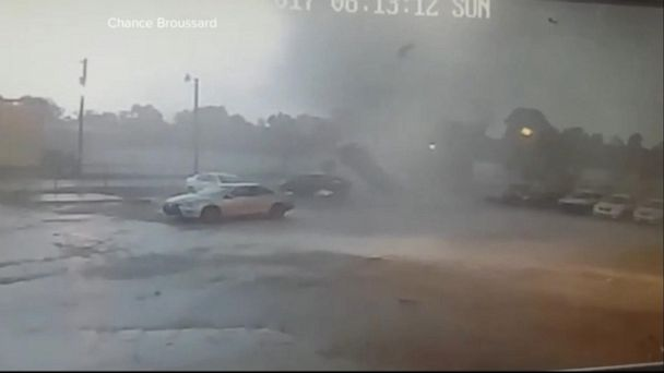 VIDEO: Louisiana is in a state of emergency, as twister lifts up car and drops it back down