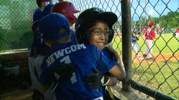 VIDEO: Little boy waiting for heart transplant wins a spot on the baseball team