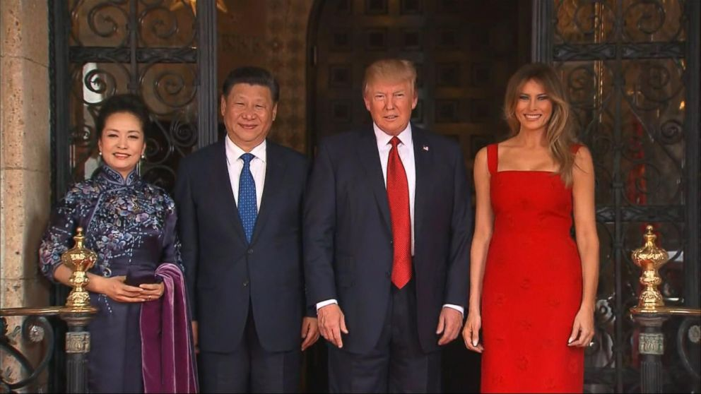 President trump meets with chinese president xi jinping for Abc chinese cuisine columbia mo