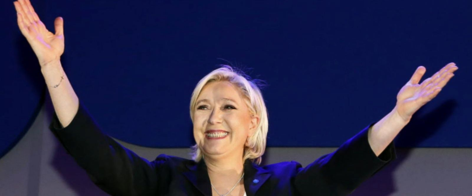 VIDEO: Candidate Marine LePen, often compared to Trump, advances in French election