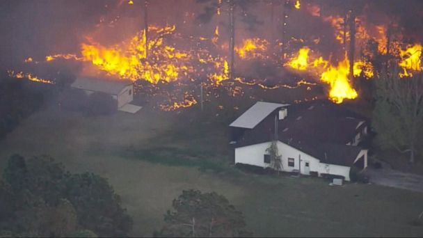 VIDEO: Firefighters battle more than a hundred wildfires in Florida