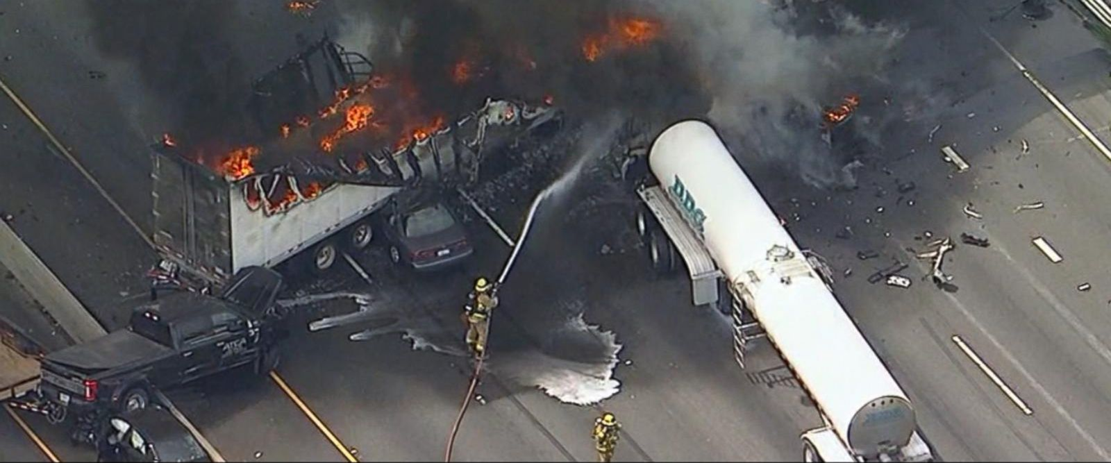 VIDEO: Deadly crash on one of Los Angeles' busiest freeways