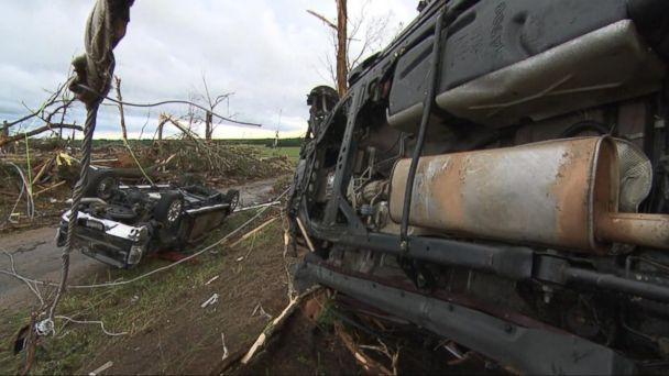 VIDEO: Deadly tornados and flooding leave at least 13 people dead