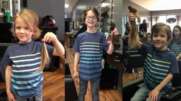VIDEO: Family donates hair in loving memory of a friend's son who died of cancer