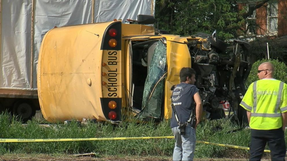VIDEO: The search for a hit-and-run driver who may have caused a school bus crash