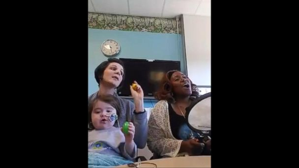 VIDEO: 4-year-old with rare blood disease meets her favorite singer