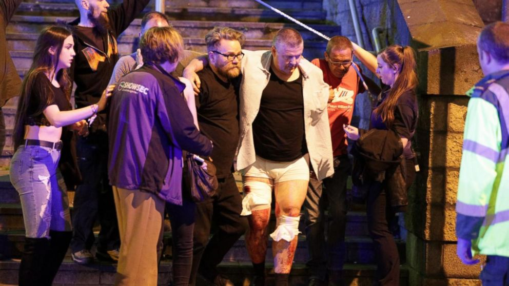 VIDEO: Chaos after reports of explosion at Manchester Arena