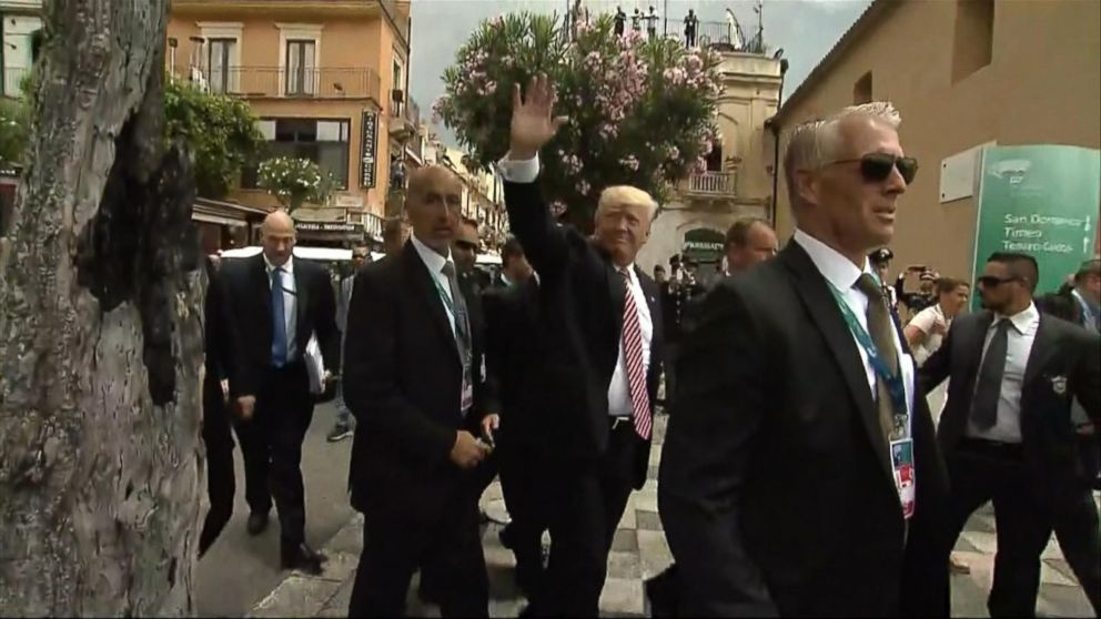VIDEO: Trump closes in on the end of his first overseas trip