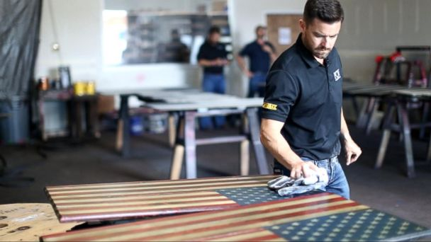 VIDEO: American company owned and operated by veterans turns symbol of freedom into work of art