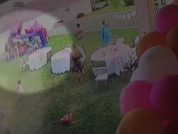 WATCH:  Man pulls plug on bounce house, deflating it with kids inside