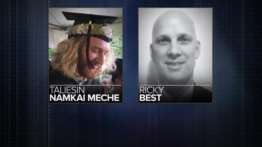 VIDEO: Two men called heroes after brutal stabbing attack on Oregon train