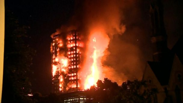 VIDEO: London high-rise apartment building becomes deadly towering inferno