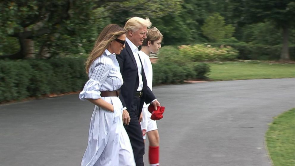 VIDEO: Trump family makes first trip to Camp David