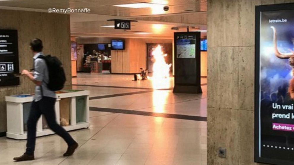 VIDEO: Explosions and gunfire at train station in Brussels