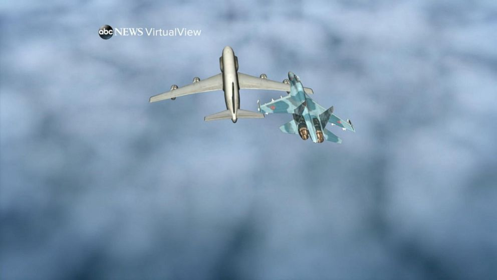 VIDEO: Russian fighter jet flies within feet of a US Air Force reconnaissance plane