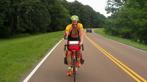 VIDEO: A father cycled 1,400 miles for a cause