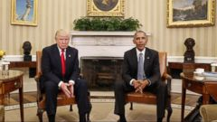 VIDEO: Trump turns from health care fight to fault Obama for Russia hack