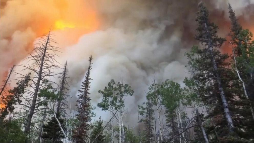 VIDEO: Fire in Utah torches thousands of acres, causing evacuations and destroying homes