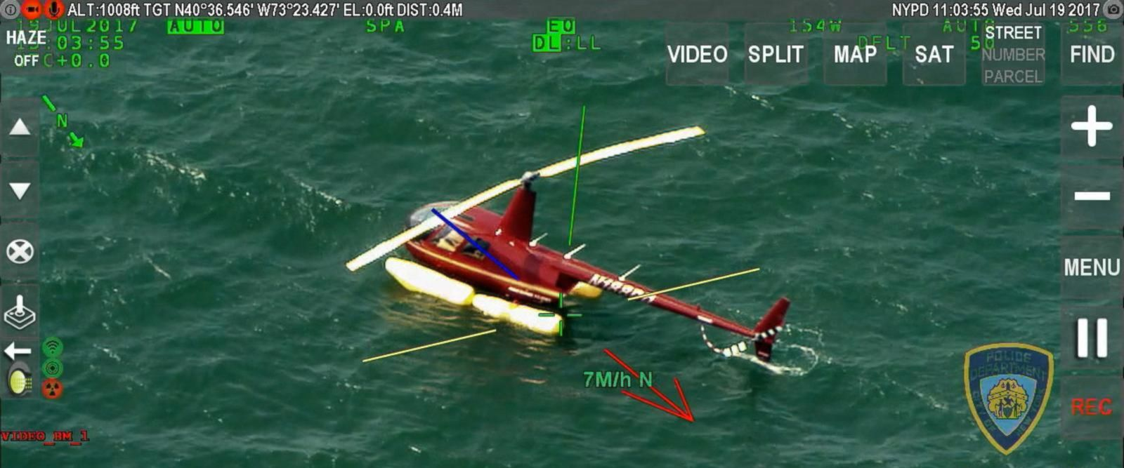 VIDEO: Helicopter makes emergency landing in waters off Long Island, NY