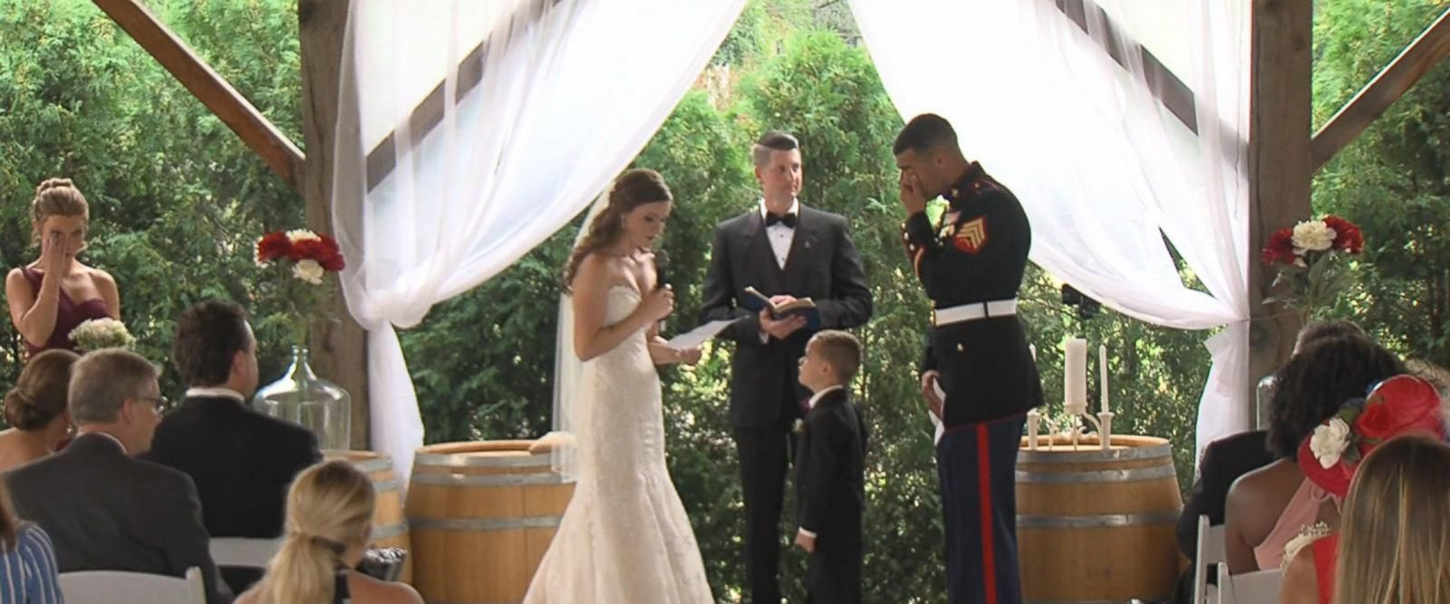 VIDEO: Video of military wedding goes viral