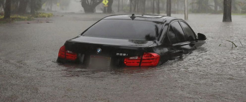 VIDEO: Millions of cars and trucks were soaked in flood waters after the storm