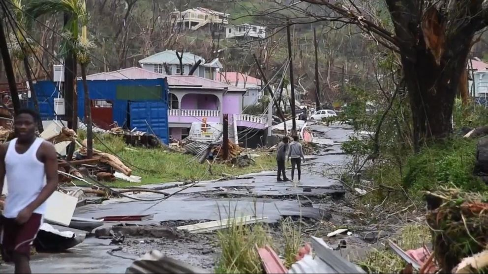 On The Island Of Dominica Nearly Complete Destruction By
