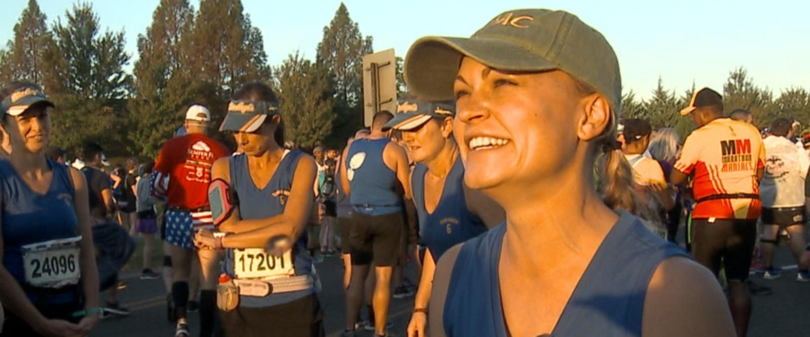 VIDEO: Marine widow runs tribute for fallen pilot