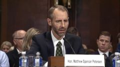 VIDEO: Federal judge nominee Matthew Peterson struggles under questioning
