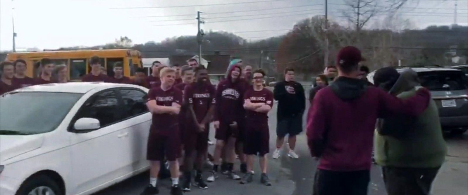 VIDEO: Volunteer football coach receives new car as thank-you for his service