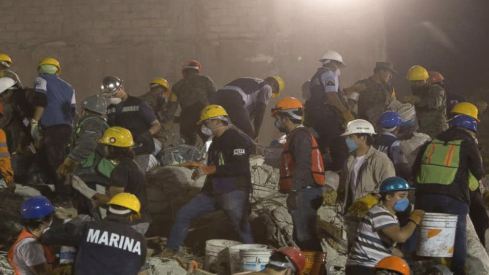 Earthquake with a preliminary magnitude of 7.2 hits Mexico