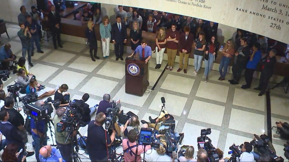 100 survivors of Florida school shooting take call to action to lawmakers