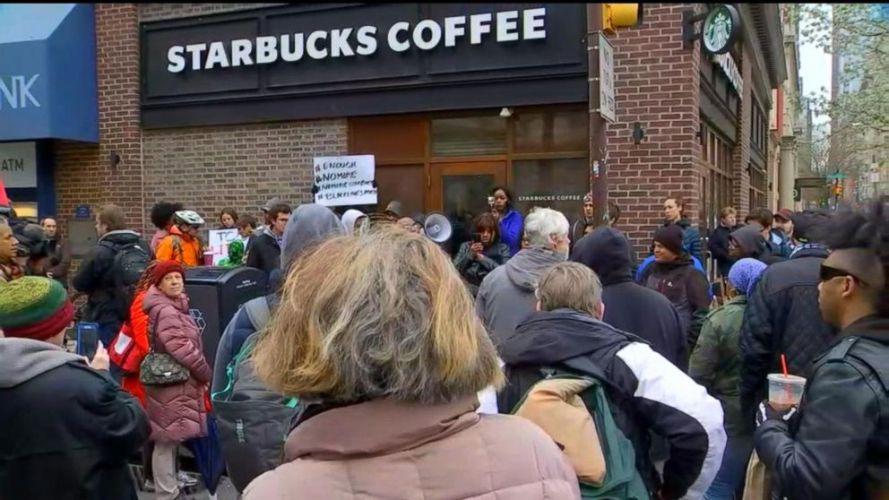 Handcuffing of 2 black men in Starbucks in Philadelphia sparks controversy